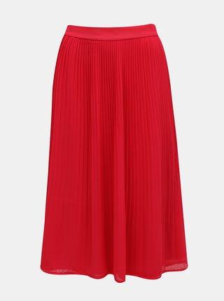 Červená plisovaná sukňa VILA