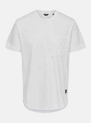 Bílé tričko ONLY & SONS Gavin