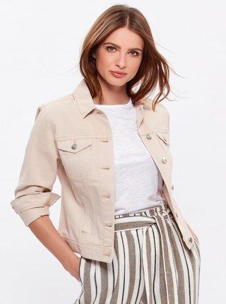 Béžová džínová bunda M&Co
