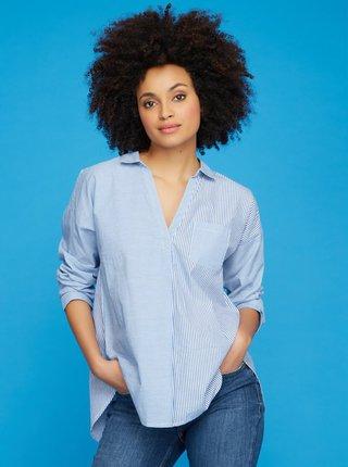 Modrá pruhovaná košile M&Co