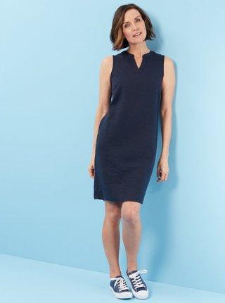 Tmavomodré ľanové šaty M&Co