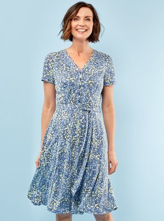 Modré vzorované šaty M&Co