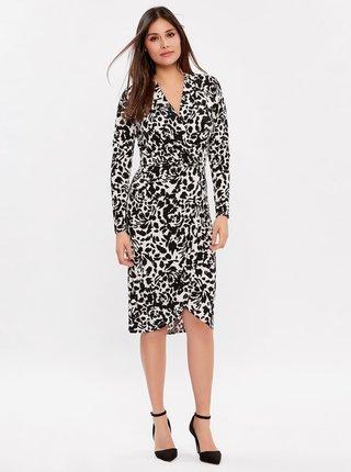 Bílo-černé vzorované pouzdrové šaty M&Co