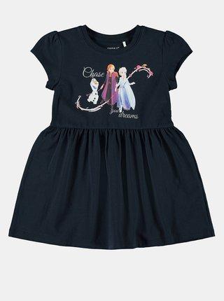 Tmavomodré dievčenské šaty name it Frozen