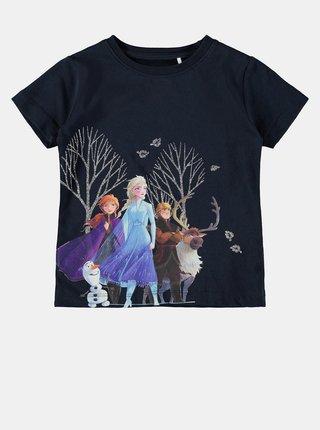 Tmavomodré dievčenské tričko name it Frozen