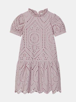 Starorůžové holčičí šaty s madeirou name it Denisa