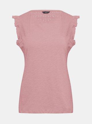 Růžová halenka s madeirou M&Co