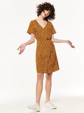 Oranžové šaty s leopardím vzorom M&Co
