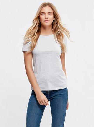 Světle šedé basic tričko M&Co