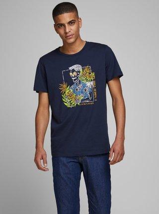 Tmavomodré tričko Jack & Jones Niket