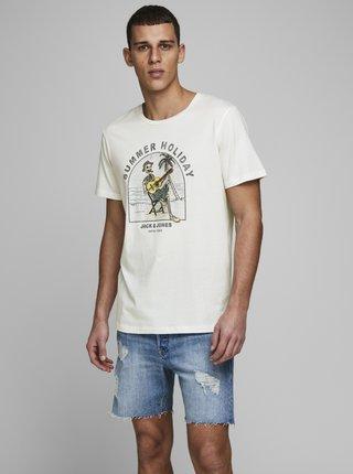 Bílé tričko Jack & Jones Niket