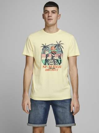 Žluté tričko Jack & Jones Niket