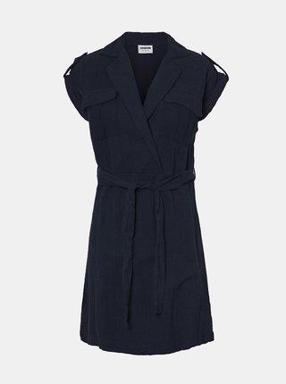 Tmavomodré košeľové šaty Noisy May Shipa