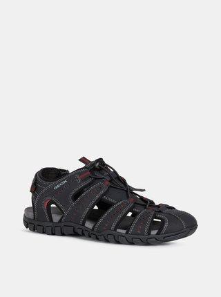 Čierne pánske sandále Geox Sand.Mito