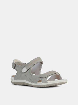 Šedé dámské sandály Geox Vega