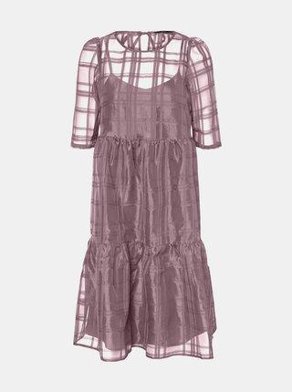 FIalové volné šaty VERO MODA Vava