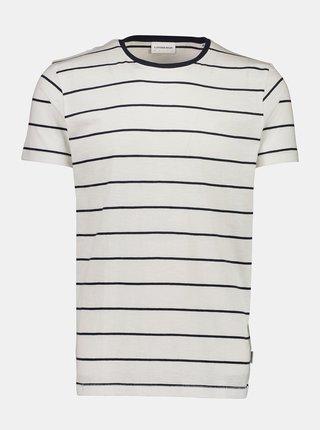 Biele pruhované tričko Lindbergh