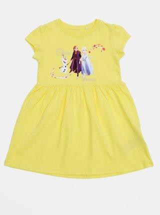 Žluté holčičí šaty name it Frozen