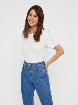 Biele basic tričko Pieces Ria