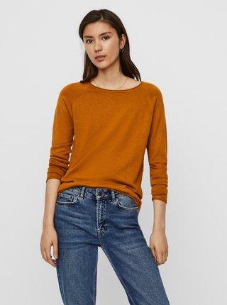 Hnedý ľahký basic sveter VERO MODA Ellie Glory