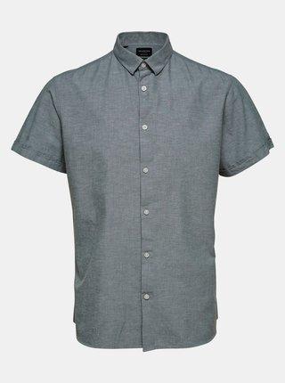 Šedá košile s příměsí lnu Selected Homme