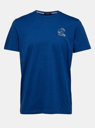 Modré tričko Selected Homme Wayne