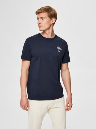 Tmavě modré tričko Selected Homme Wayne