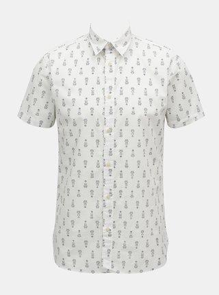 Biela vzorovaná košeľa Selected Homme