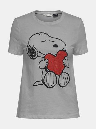 Šedé tričko ONLY Peanut Love