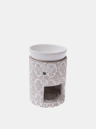 Krémová keramická aromalampa Dakls