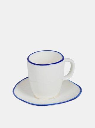 Bílý hrnek na espresso s podšálkem Tranquillo Elsa 50 ml