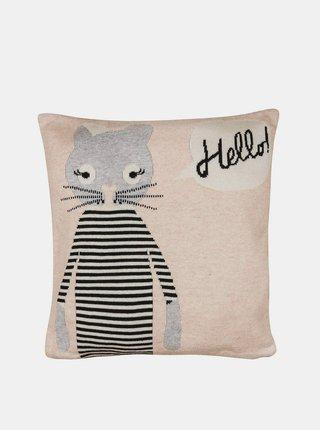 Béžový vankúš Tranquillo Home Katze