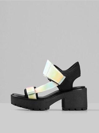 Růžovo-zelené sandálky na podpatku Vagabond Dioon