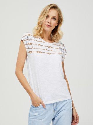 Bílé tričko Moodo