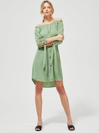 Světle zelené šaty Moodo