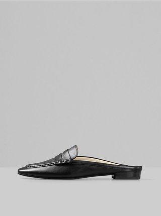 Čierne dámske kožené šľapky Vagabond Cleo