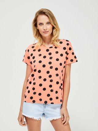 Meruňkové vzorované tričko Moodo