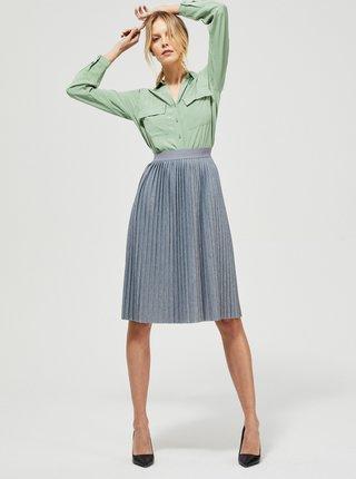 Šedá plisovaná sukně Moodo