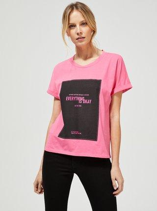 Ružové tričko Moodo