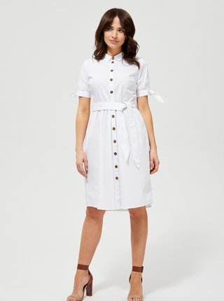 Biele košeľové šaty Moodo