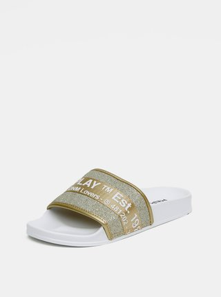 Dámské pantofle ve zlaté barvě Replay