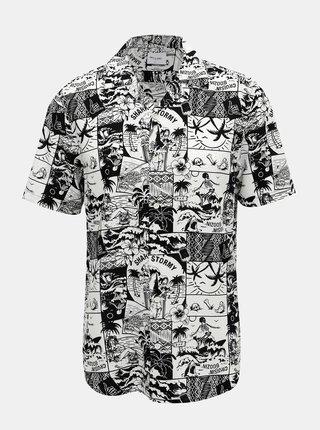Čierna vzorovaná košeľa ONLY & SONS