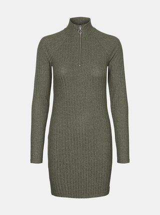 Kaki svetrové šaty Noisy May Kelly