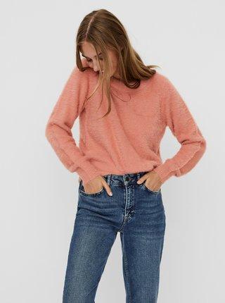 Růžový svetr Noisy May Jess