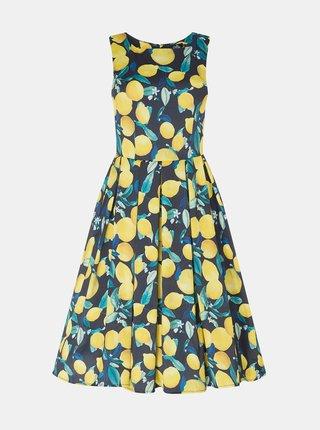 Marimi curvy pentru femei Dolly & Dotty - albastru, galben
