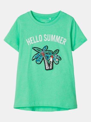 Zelené dievčenské tričko name it Josey