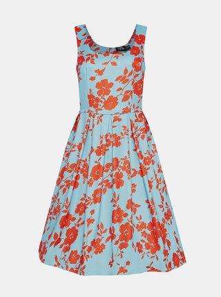 Svetlomodré kvetované šaty Dolly & Dotty