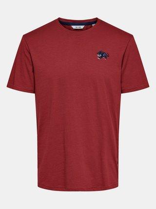 Červené tričko ONLY & SONS Mag