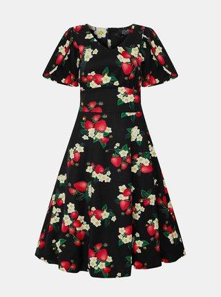 Čierne kvetované šaty Dolly & Dotty