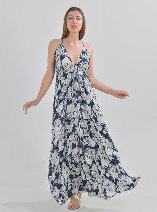 Modré květované maxišaty Ble